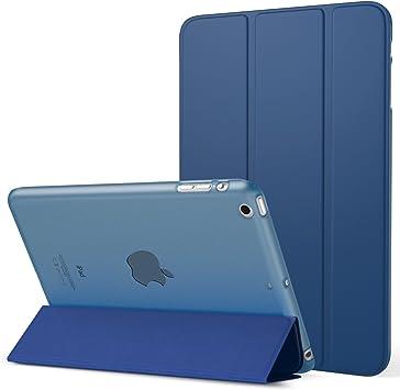Oferta amazon: MoKo Funda para iPad Mini 3/2 / 1 - Lightweight Función de Soporte Protectora Plegable Smart Cover Trasera Transparente Durable (Auto Sueño/Estela) - Azul Marino