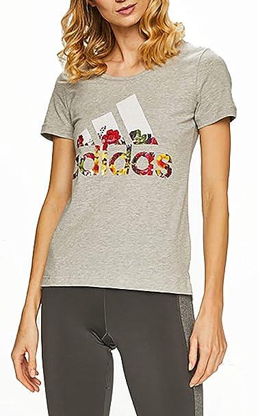 adidas Bos Flower Tee Maglietta Donna: Amazon.it: Abbigliamento