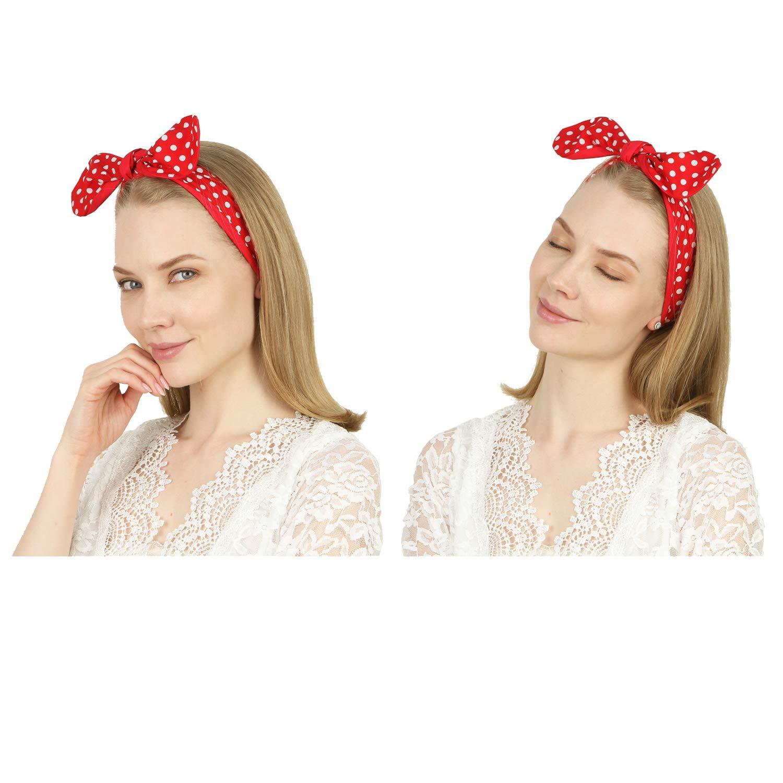 multi colors headbands New Fish Lips Cotton Headband by Fun Prints Colorado dots headband