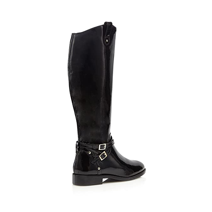 Debenhams Faith Womens Black Patent 'Millie' Calf Length Boots 8:  Amazon.co.uk: Shoes & Bags