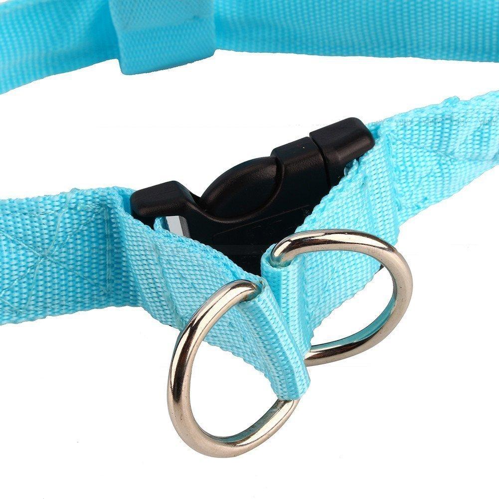 Yosoo Glow LED de flash Dog Walking cintur/ón arn/és correa Tether Pet luminoso cuello de seguridad para grandes y medianas perros