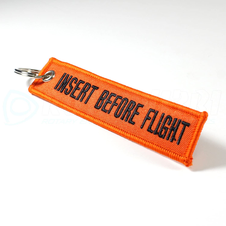 Rotary13B1 Orange// Black IBF1398 Insert Before Flight Keychain
