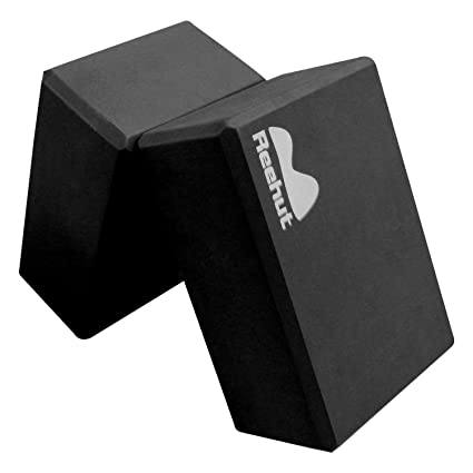 REEHUT Yoga Block (1 PC or 2 PC) - High Density EVA Foam Block to Support and Deepen Poses, Improve Strength and Aid Balance and Flexibility - ...