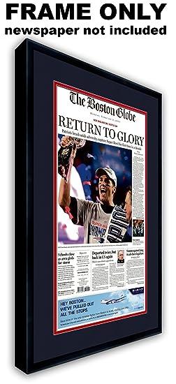 Amazon com: The Boston Globe Newspaper Frame - with New