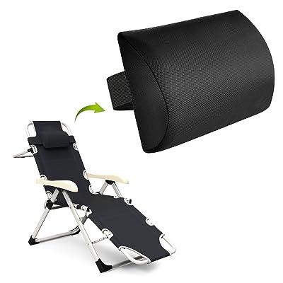 Zero Gravity Chair Replacement Pillow Headrest, Zero Gravity Recliner Lounge Chair Pillow (Black): Kitchen & Dining