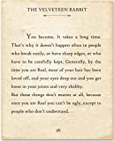 Amazon Price History for:The Velveteen Rabbit - You Become - 11x14 Unframed Typography Book Page Print - Great Gift for Book Lovers
