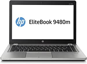 "HP EliteBook Folio 9480M 14"" Laptop, Intel Core i7-4600U 2.1GHz, 8GB RAM, 256GB Solid State Drive, NO ODD, NO CAM, Windows 10 Pro 64Bit (Renewed)"