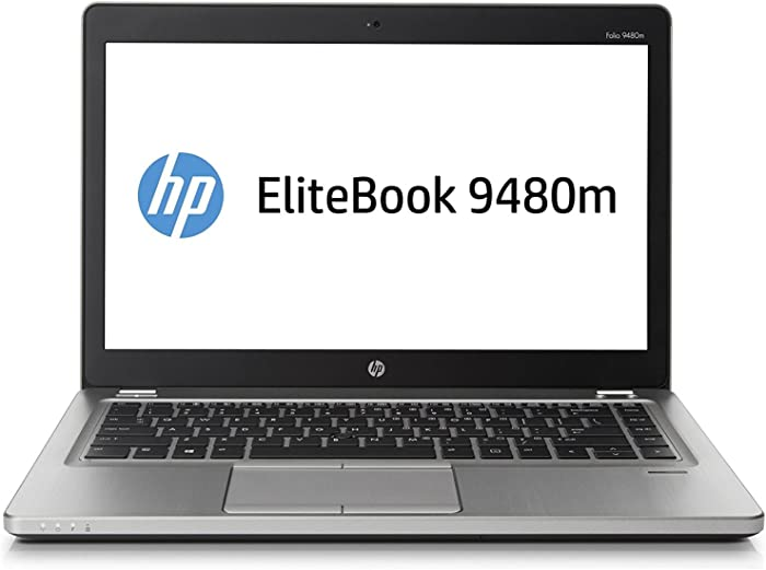 HP EliteBook Folio 9480M 14in Intel Core i5-4310U 2.0GHz 8GB 180GB SSD Windows 10 Professional (Renewed)