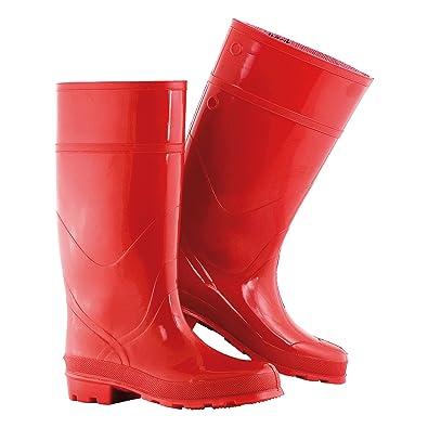 Gummistiefel Gummi Stiefel Regenstiefel 4 Farben Ver. Größen Outdoor Schuhe (40, Rot)