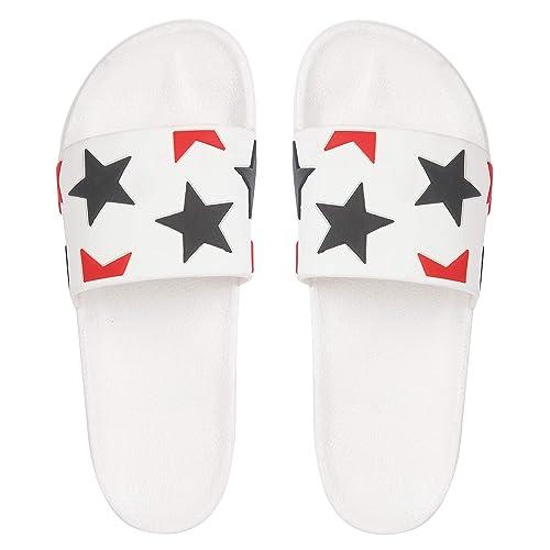 b1acb6ff6094 Des Tongs Multi Colour Star Flip Flop  Amazon.in  Shoes   Handbags