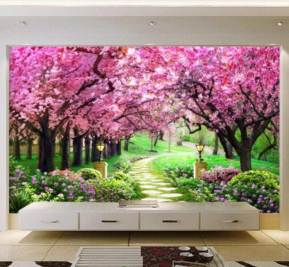 Mural Custom 3d Photo Wallpaper Flower Romantic Cherry Blossom