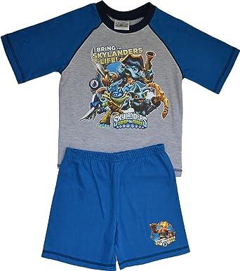3703a7b35 Boys Kids Skylanders Swap Force Cotton Short Pyjama Sleepwear Nightwear  (Grey Blue) 4