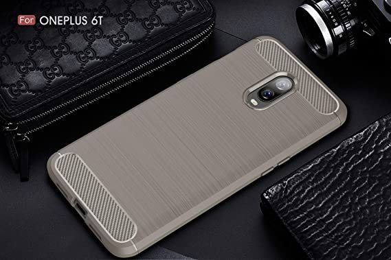 OnePlus 6T Case UCC Frosted Shield Luxury Slim TPU Bumper Cover Carbon  Fiber Design Anti-Scratch Non-Slip Case Cover OnePlus 6T (6 4