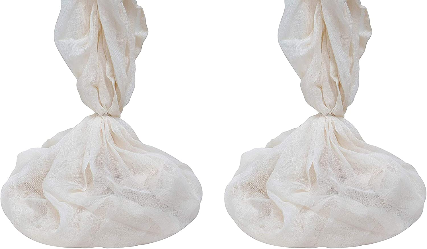 """Reusable Organic Cotton Cheese Cloth - Cheesecloth for Straining Yogurt, Tofu, Nut Milk, Smoothie, Cheese, Jelly, Paneer - Perfect for Roasting Turkey - Washable - GOTS Certified - 36""""x36"""" (Set of 2)"""