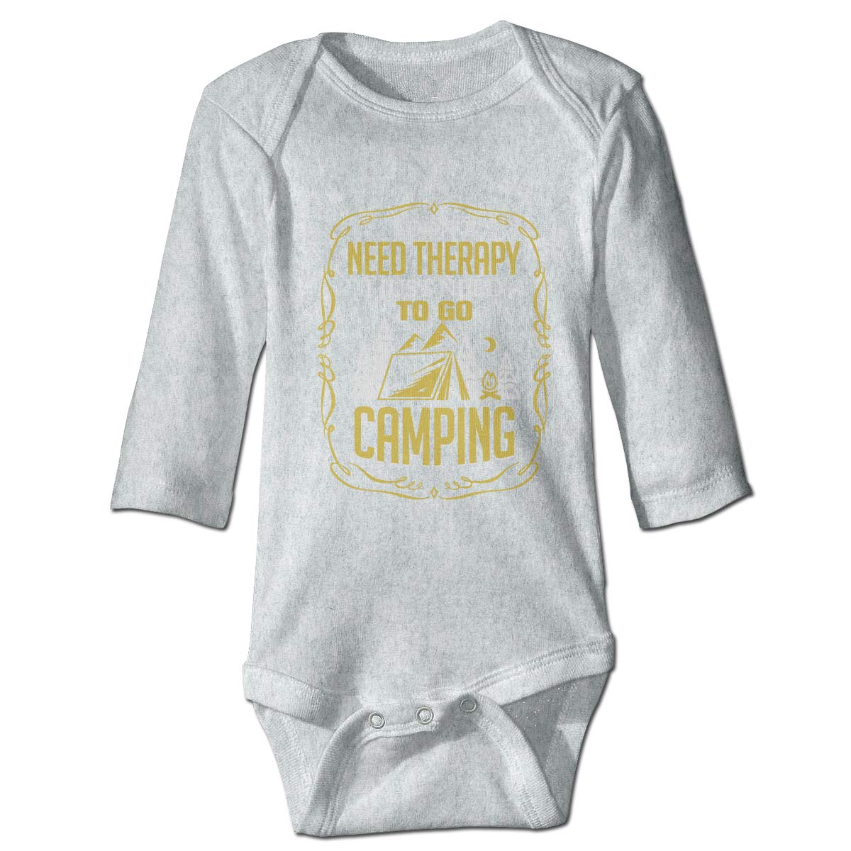 XHX Babys Need Therapy Camping Long Sleeve Romper Onesie Bodysuit Jumpsuit