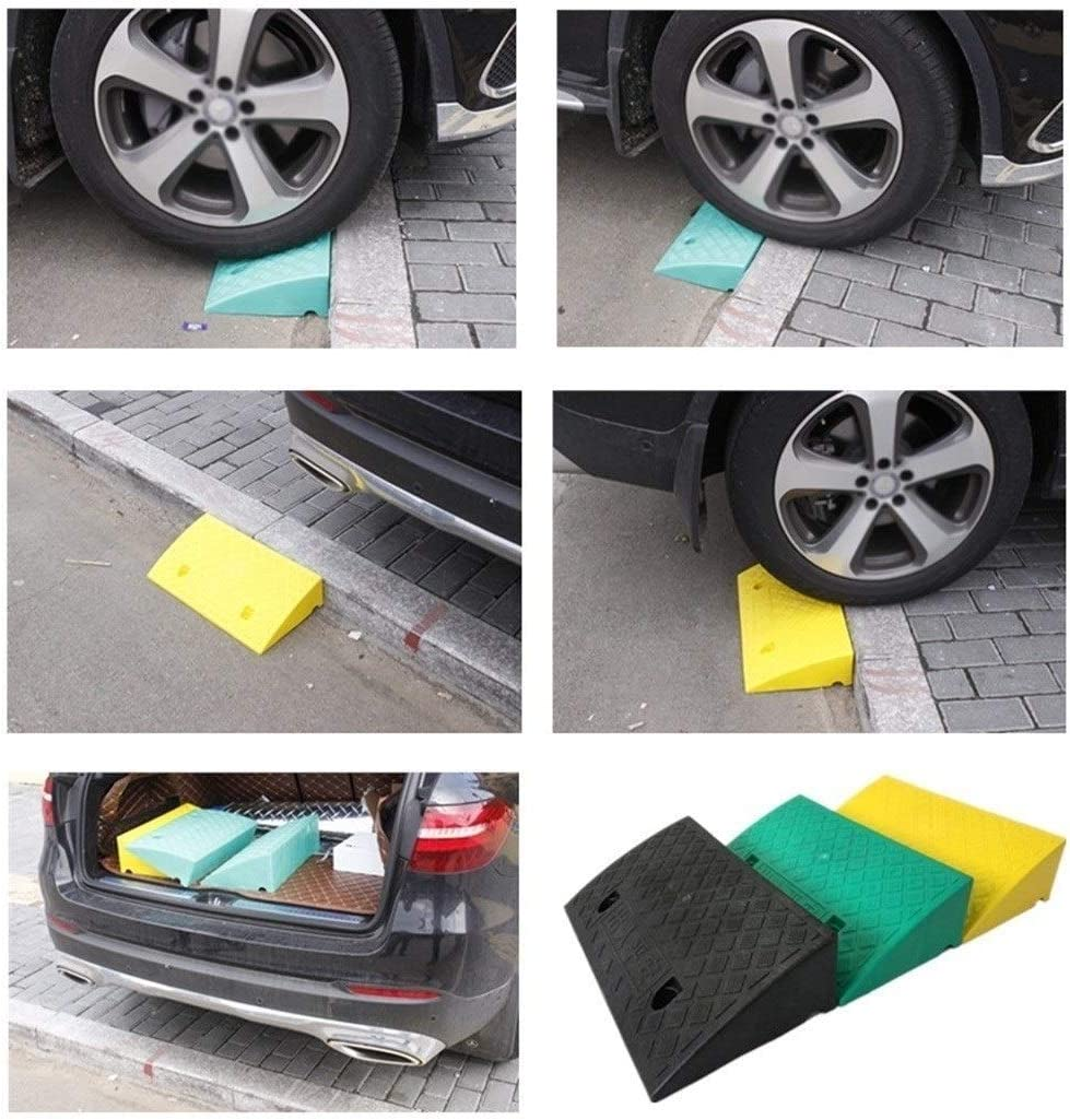 Small Plastic Ramps Color Portable Slope Pad Household Wheelchair Ramps For Bicycle Motorcycle Trolley Curb Ramps 5//7CM Color : Yellow, Size : 50 * 22 * 5CM