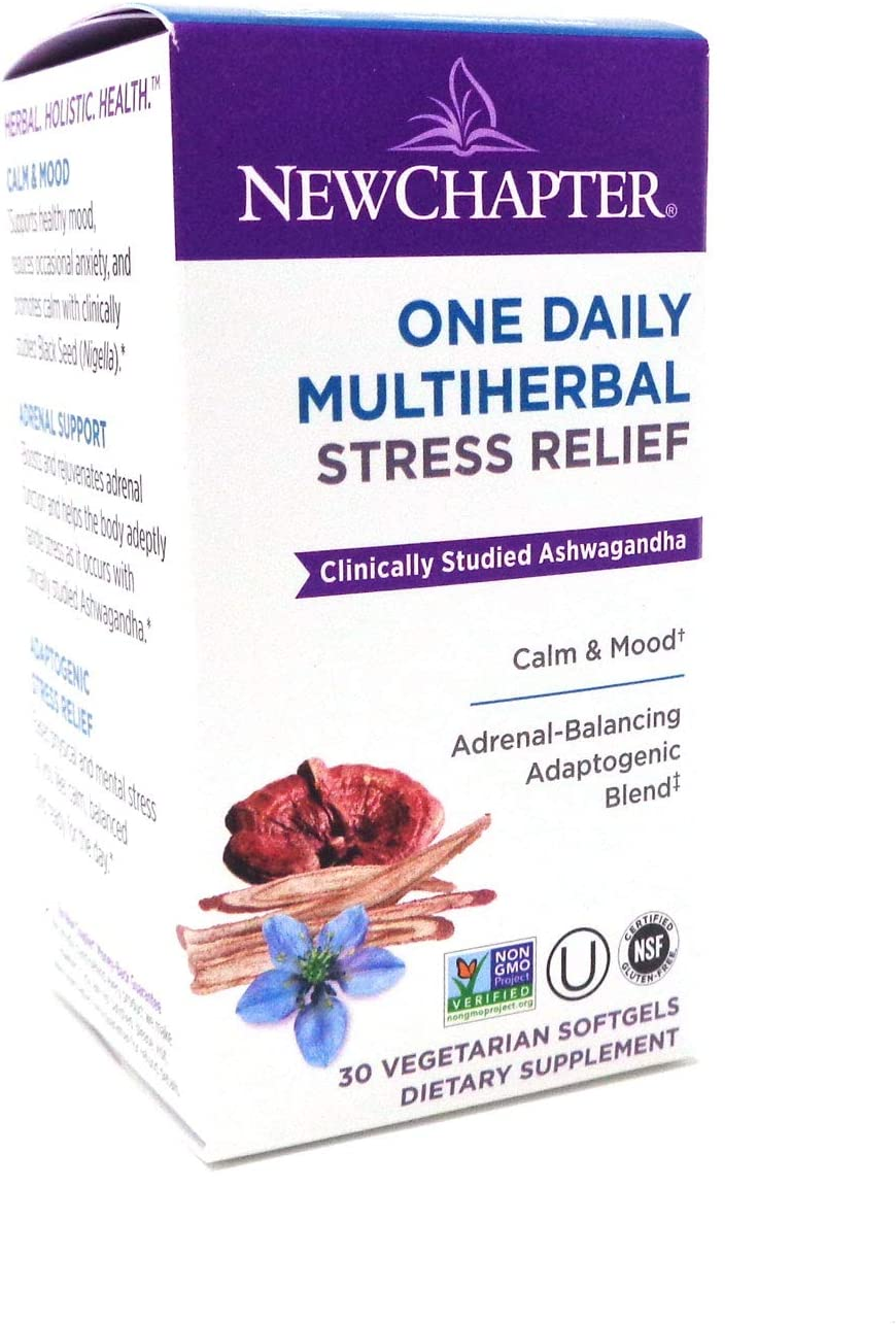 New Chapter One Daily Multi Herbal Stress Relief, 30 Softgels