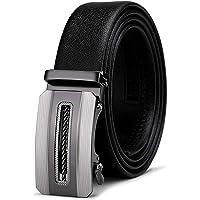 Men's Belt,Bulliant Leather Ratchet Belt for Men Dress 1 3/8,Trim to Fit