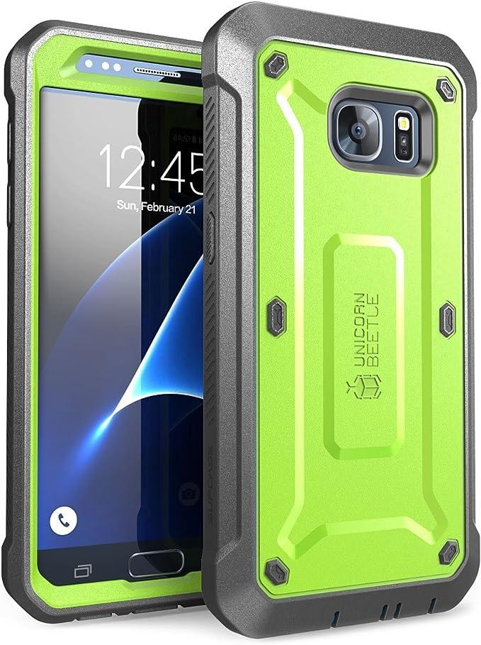 Supcase Galaxy S7 Hülle Unicorn Beetle Pro Ganzkörper Case Robust Handyhülle Stoßfest Schutzhülle Mit Eingebautem Displayschutz Und Gürtelclip Grün Grau Elektronik