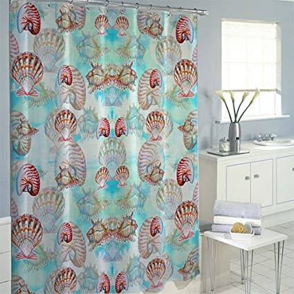 Betsy Drake SH094 Multi Shells Shower Curtain