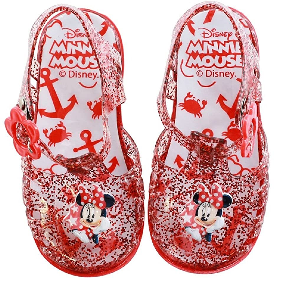 21-26 EU Girls Minnie Mouse Jelly Sandal Summer Shoes Official Licence 4.5-8.5