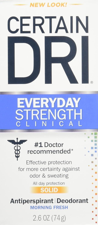 Certain Dri A.m Solid Antiperspirant/deodorant 2.6 Oz (2 Pack) 01120