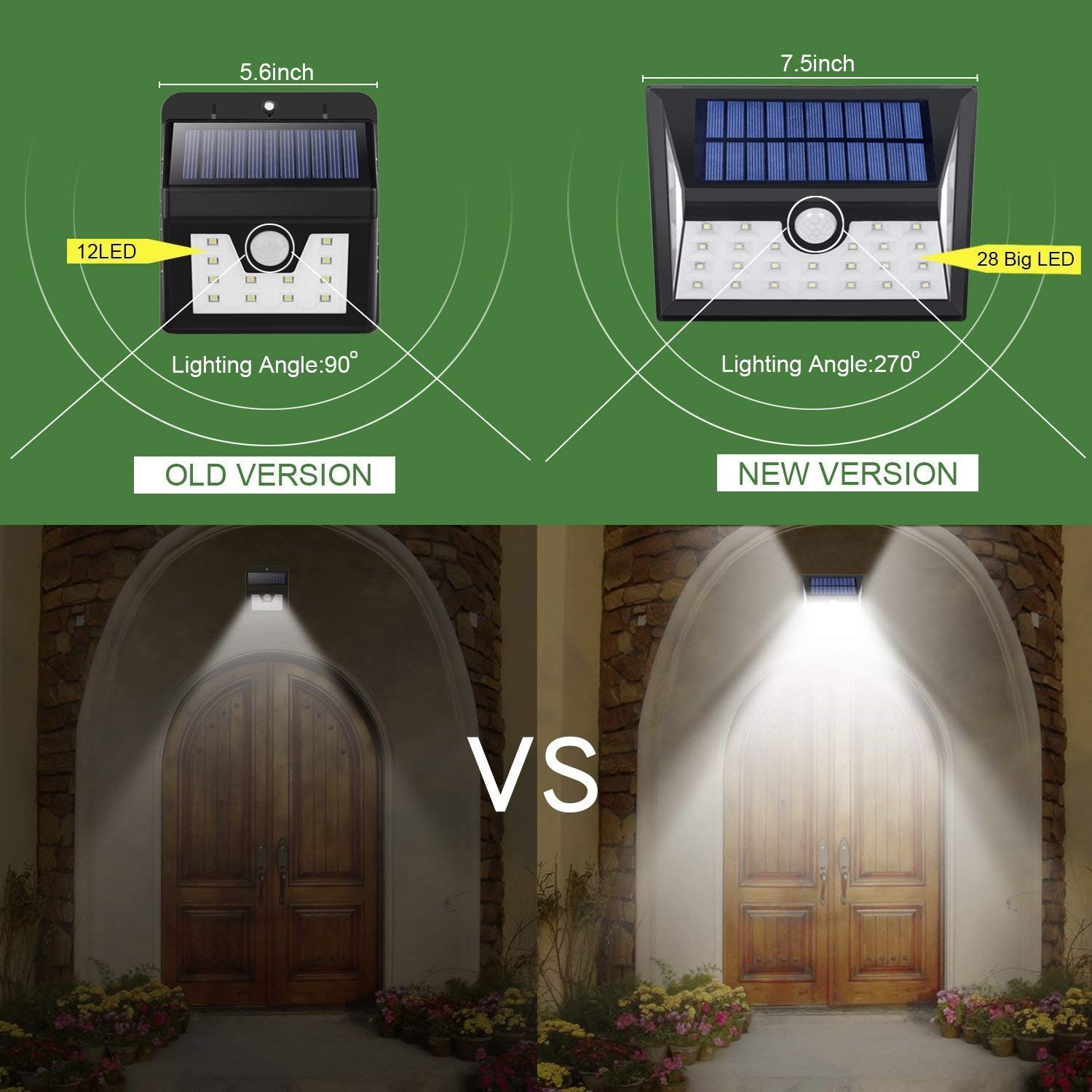 Outdoor Solar Powered Spotlight - Dolucky 24 LED 2 Mode Waterproof Solar Landscape Light with 360°Rotatable Dual Head for Garden Patio Pathway Driveway