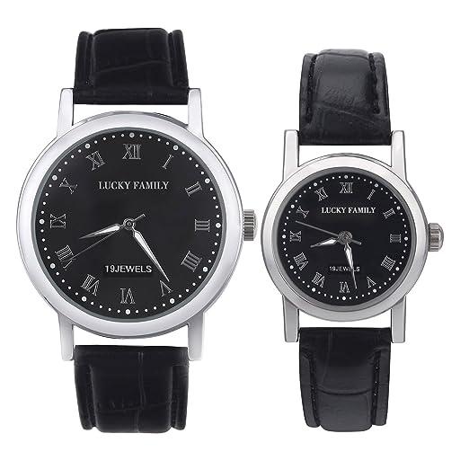 Eleoption 2pcs simple Pareja Relojes de pulsera Relojes de pulsera para los niños y las niñas como mejores regalos con caja de regalo gratis: Amazon.es: ...