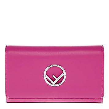 3ad59e88e8fc Amazon.com  Fendi Women s F Logo Clutch with Chain Pink  TheLuxuryClub