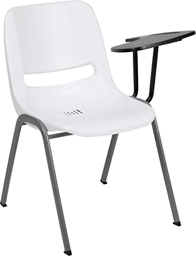 Flash Furniture White Ergonomic Shell Chair