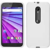 PhoneNatic Custodia Motorola Moto G 2015 3. Generation Cover bianco S-Style Moto G 2015 3. Generation in silicone + pellicola protettiva