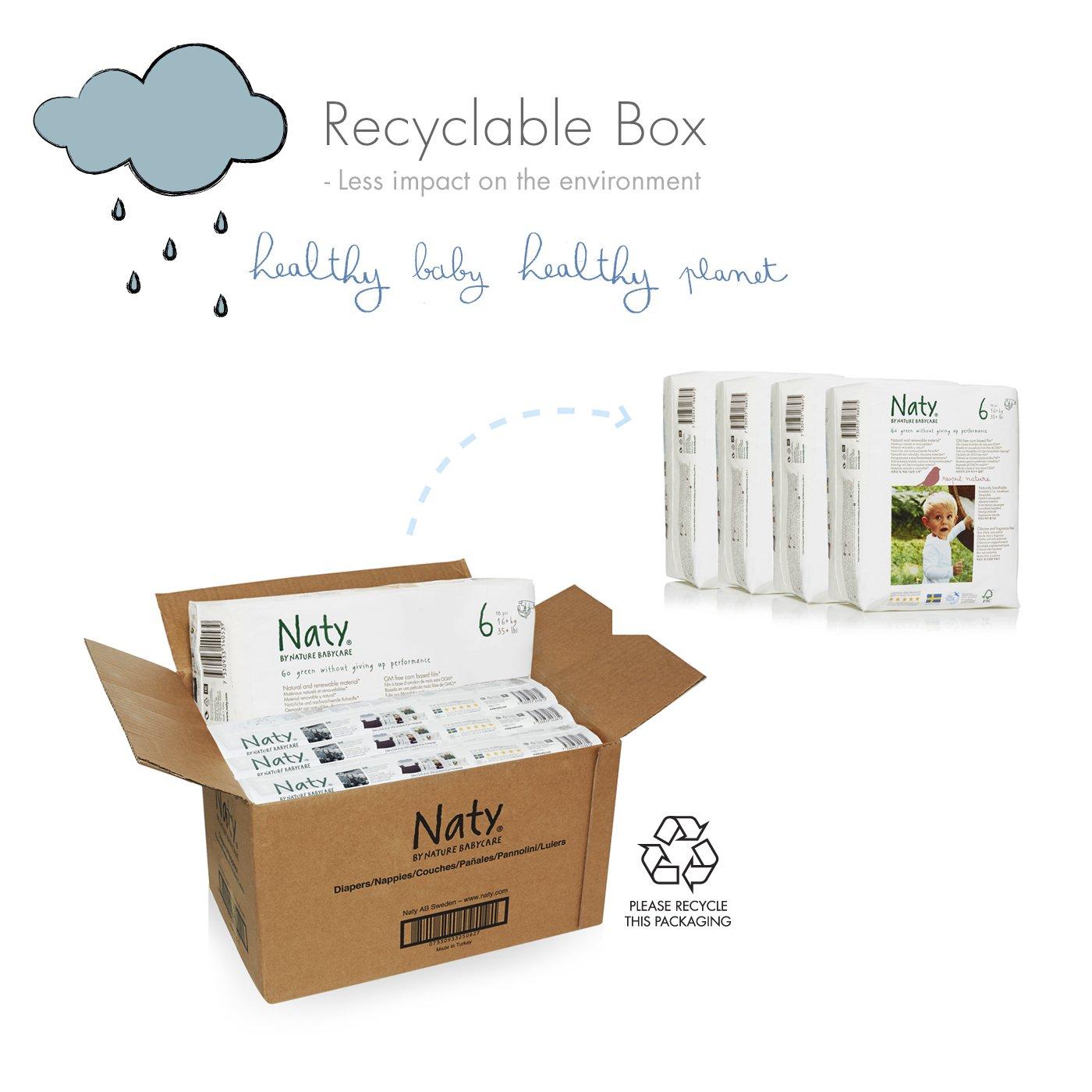 Naty By Nature Babycare - Pañales ecológicos - Talla 6 (16+ kg) - 4 x 18 pañales: Amazon.es: Salud y cuidado personal