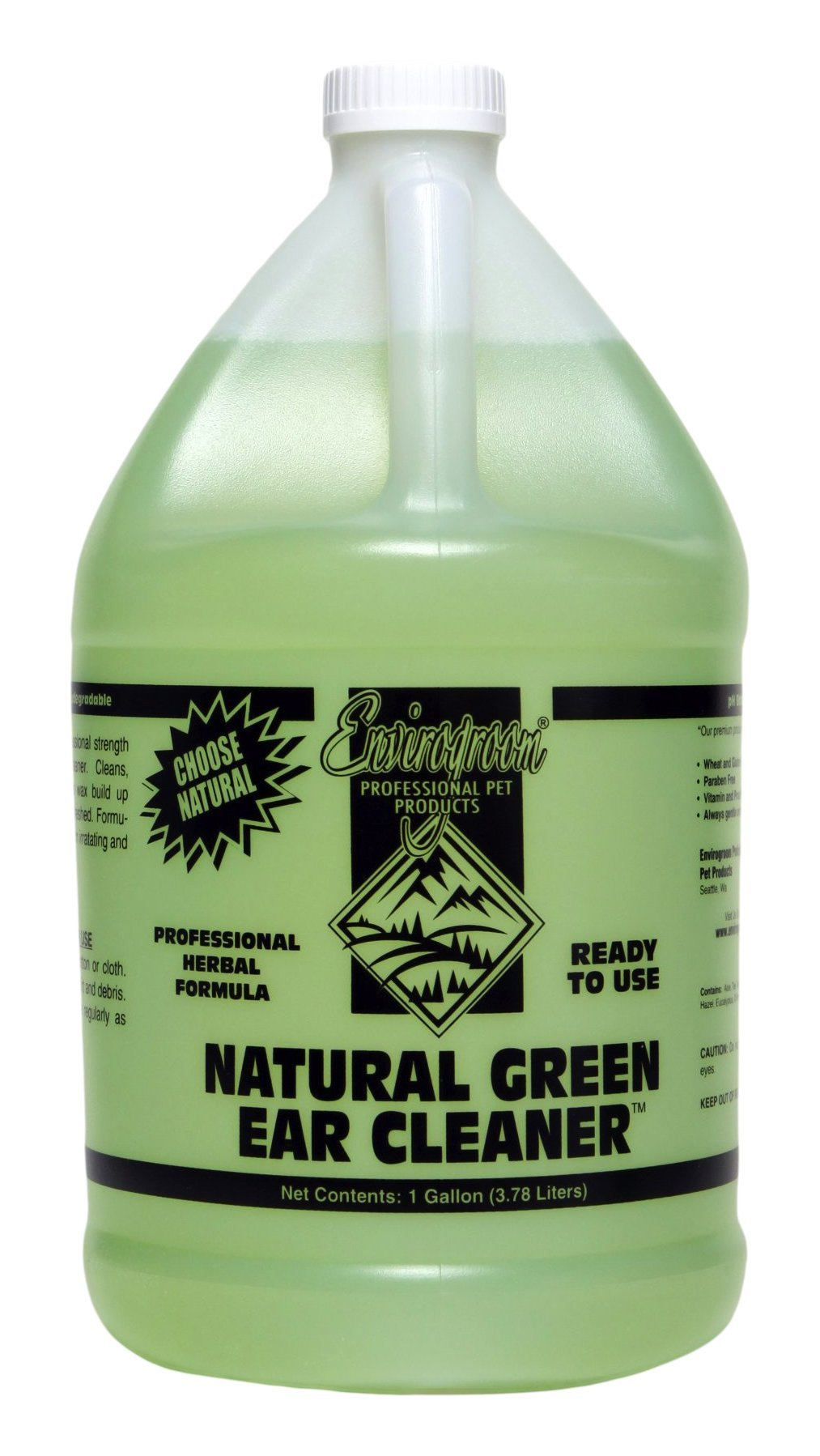 Envirogroom Natural Green Ear Cleaner, Ready-to-Use, Gallon by Envirogroom