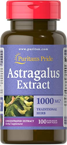 Puritan s Pride Astragalus Extract 1000 mg-100 Softgels