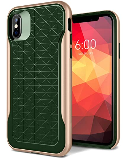 size 40 3d451 f6eb5 Caseology Apex for Apple iPhone Xs Case (2018) / for iPhone X Case (2017) -  3D Pattern Design - Pine Green