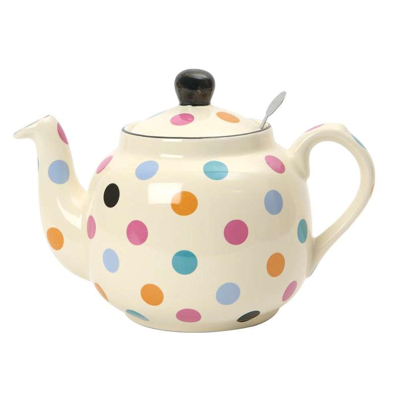 Spotty 4-Cup Filter Teapot London Pottery 17278414