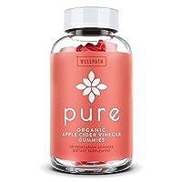 Pure Apple Cider Vinegar Gummies - USDA Organic Certified - with Raw, Organic ACV...