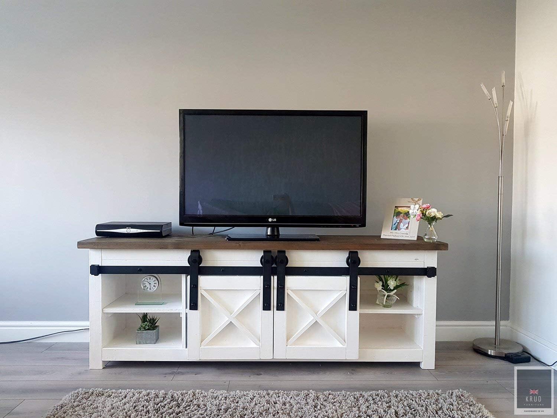 KRUD-38 - Mueble para TV (mueble de campo, puertas de granero, mueble rústico): Amazon.es: Juguetes y juegos