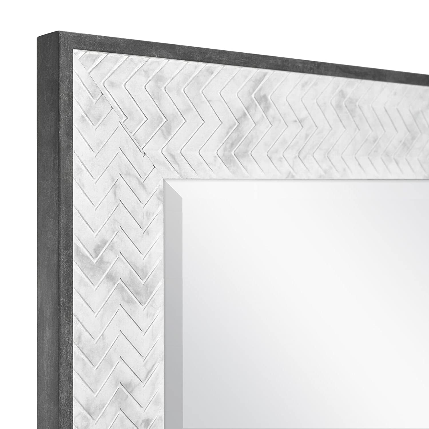 66944 Mirror 22 x 26 Inch, Marble MCS 16x20 Inch Chevron 22x26 Overall Size