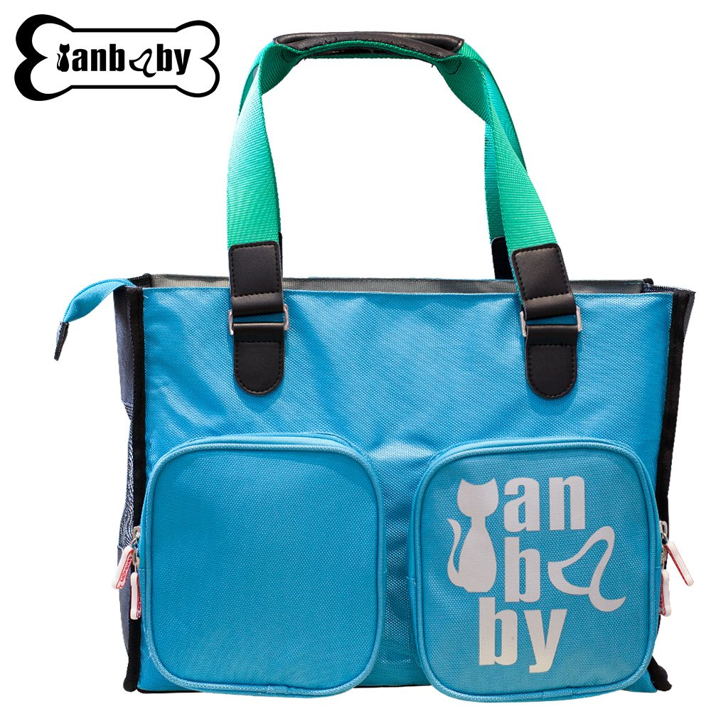 blueE YIAN BABY Breathable Cat Handbag, Foldable Pet Carrier Travel for Small or Medium Cat Breed with EVA Material Soft-Side Cover Handbag Puppy Carry Bag (bluee)