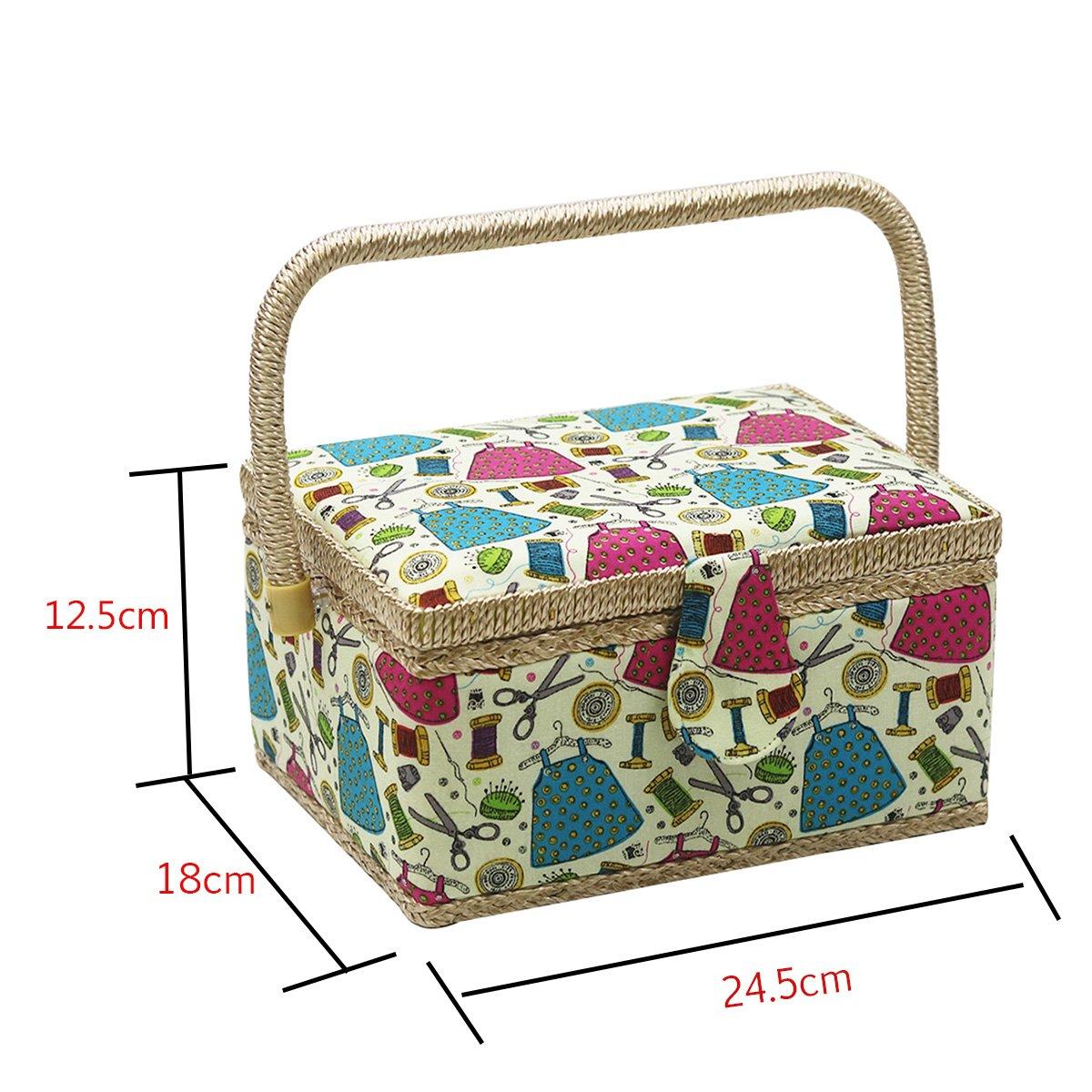 Bo/îte /à couture green /Medium basket D /& D Kit de couture pour la maison et les voyages/