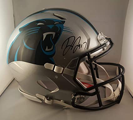 Image Unavailable. Image not available for. Color  Autographed Devin  Funchess Helmet - Full Size Authentic - JSA ... d9eb024df