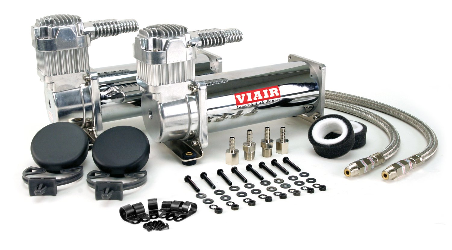 VIAIR 444C 200 PSI Dual Value Pack - Chrome by VIAIR