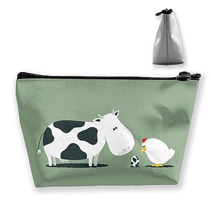 Bolsa de maquillaje de vaca y pollo Bolsas de aseo grandes ...