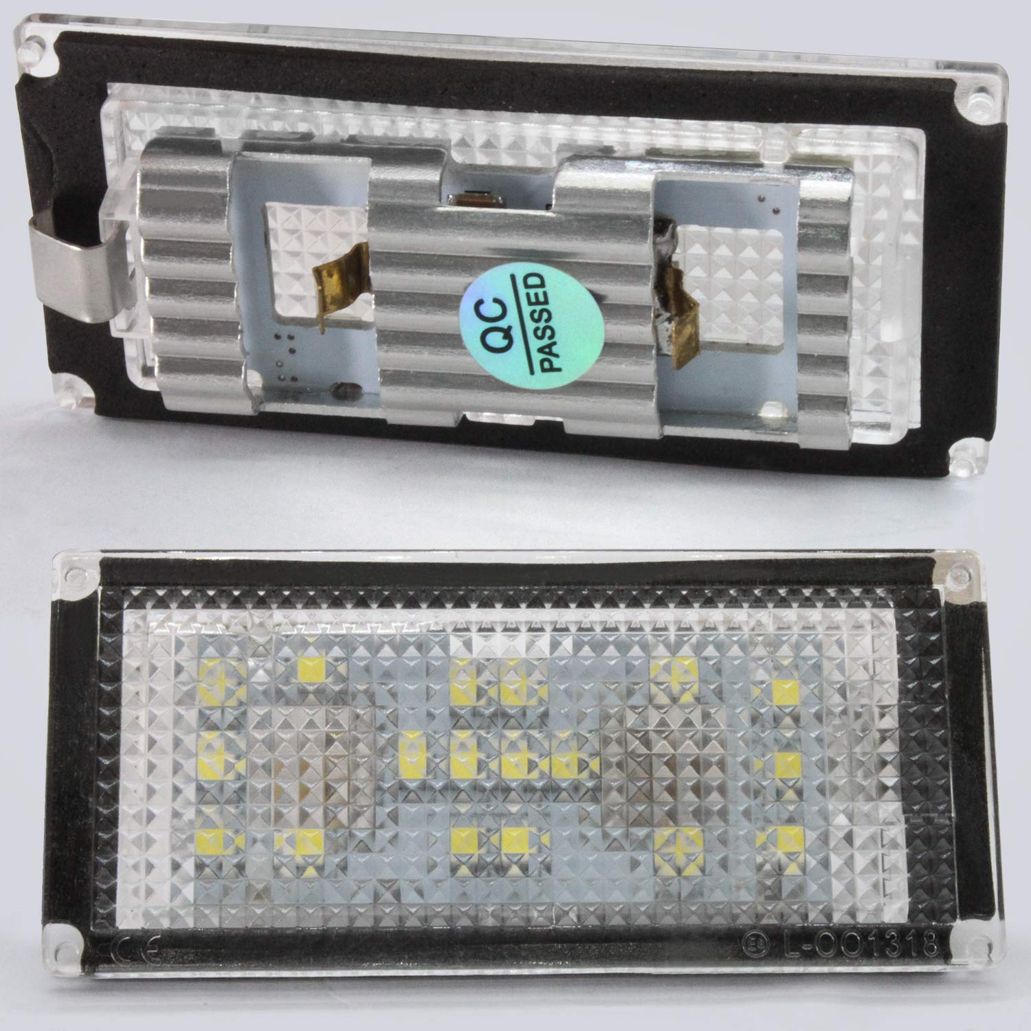Ourbest License Plate Light 18-SMD LED Tail Rear Lamp With CANBUS Free Error Waterproof 12V 6000K White Fit for BMW E66 E65 7-Series 735i 2 pcs LED License Plate Lamps