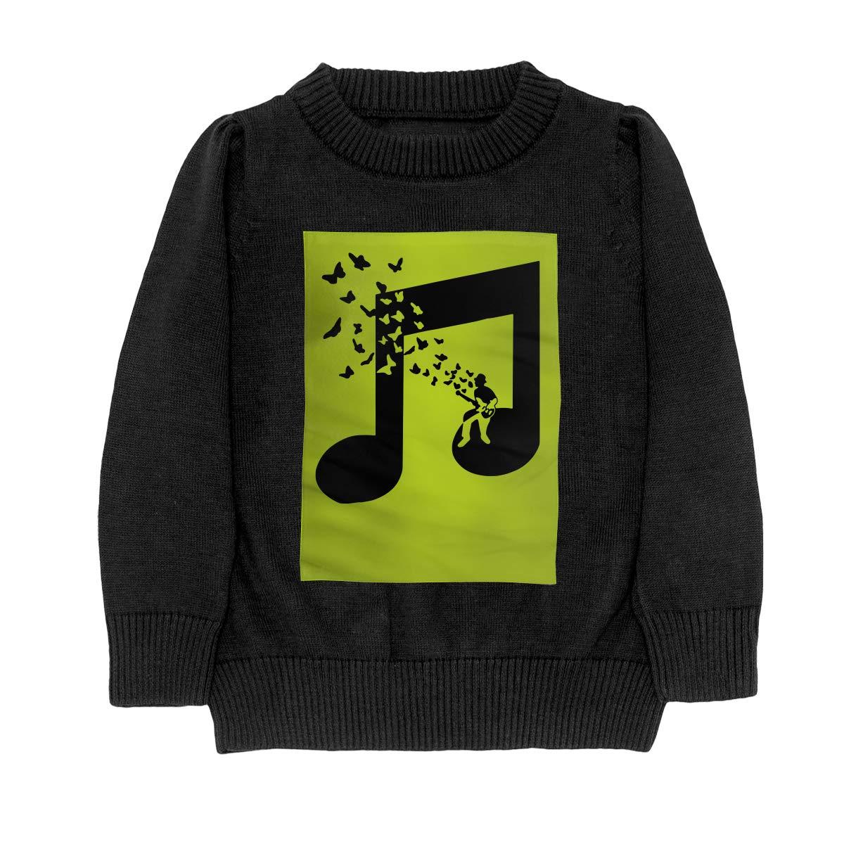 I Play Bass Guitar Music Note Butterflies Musician Fashion Adolescent Boys Girls Unisex Sweater Keep Warm