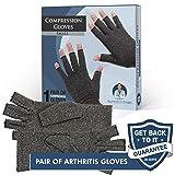 Dr. Frederick's Original Arthritis Gloves for Women & Men - Compression for Arthritis Pain Relief - Rheumatoid & Osteoarthritis - Women - Small