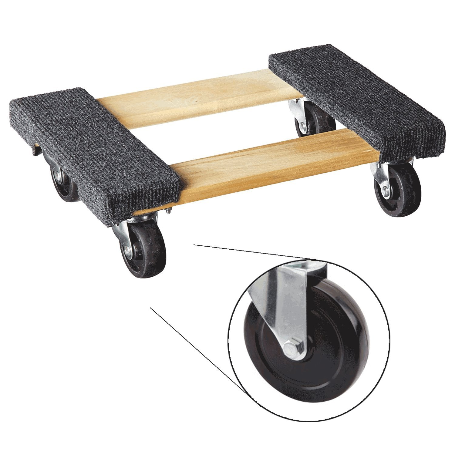 Plataforma con ruedas piano Dolly. Mini rodillo compacto Dolly para mover muebles. Medidas de la superficie enrollada: 30,5 x 45,7 cm.