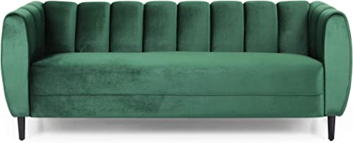 Christopher Knight Home Miranda Velvet 3 Seater Sofa