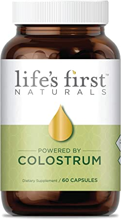 Life's First Naturals with ColostrumOne, Nutritional Supplement with Ethically Sourced Colostrum, 60 Capsules